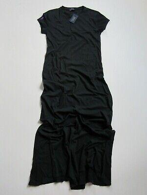 NWT Polo Ralph Lauren Cotton Jersey Maxi in Polo Black Blue T-Shirt Dress XS $98   eBay
