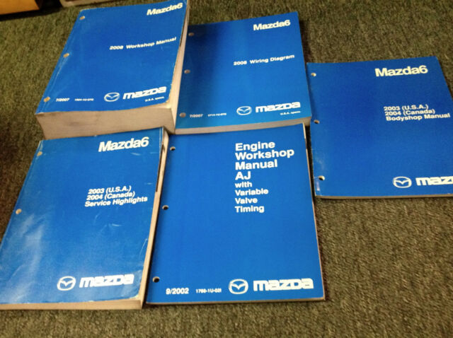2008 Mazda 6 Mazda6 Service Repair Workshop Shop Manual Set W Ewd Body   Oem