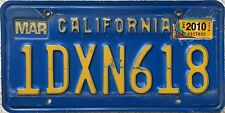 GENUINE American California Blue USA License Number Plate 1DXN618