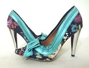 Lanvin-H-amp-M-shoes-heeled-pumps-bow-detail-floral-size-EU-38-UK-5-fab-condition