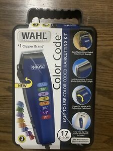 WAHL-Color-Code-Hair-Clippers-17-pc-Complete-Haircutting-Kit-Fast-Shipping
