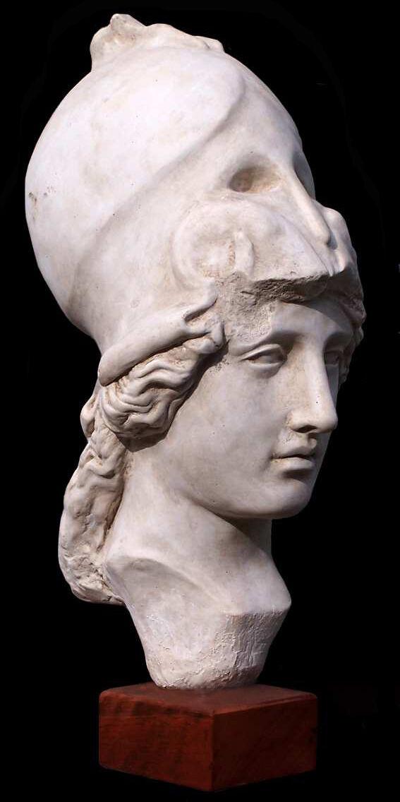 Athena Ancient Greek goddess of wisdom war arts justice skills Sculpture Statue.
