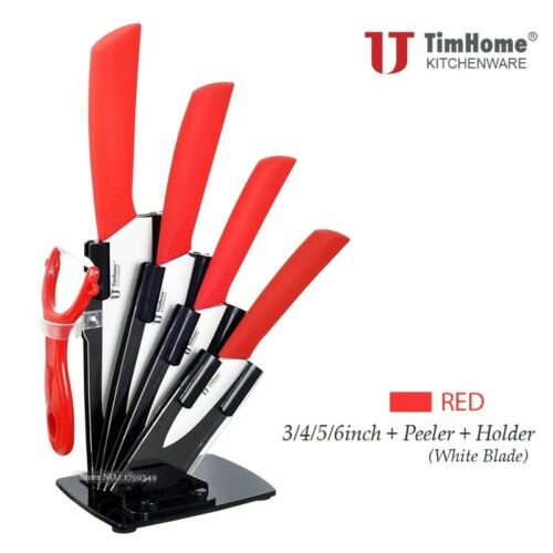 Alta calidad Timhome cuchillo de cerámica de cocina conjunto de cuchillos de