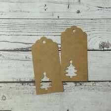 100 PCS Kraft Paper Christmas Tree Pack Gift Tags ~ FREE Jute Twine String 20M