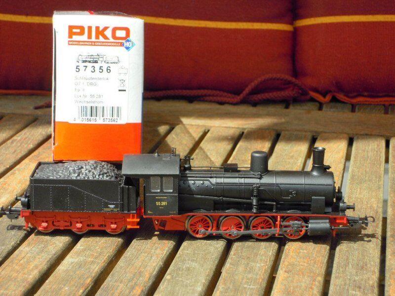 PIKO 57356 locomotiva BR 55 281/g7.1 con decoder AC DRG EPOCA traccia 2 h0-NUOVO