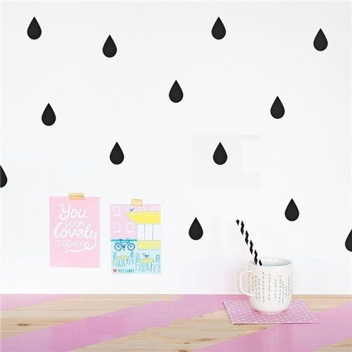 Removable DIY home decoration nursery Little Raindrop Wall Sticker Wall Decal
