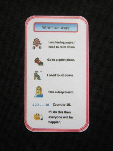 /'When I am Angry/' help charts  Autism//Visual Aid//Pecs//Dementia//Communication//SEN