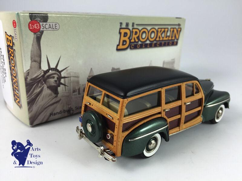 1 43 BROOKLIN 83A 83A 83A FORD V8 STATION WAGON WOODY 1947 VERT METAL 14c247