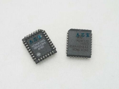 32 Plástico con plomo chips IC Chip portador 32 de reemplazo nuevo M28F512-12C3 M28F51212C3 M28F512 Plástico con plomo Chip carrier 10 un