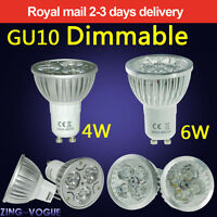 Dimmable GU10 MR16 4W 6W LED Bulbs Spot Light Lamp High Power Day Warm White New