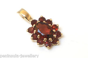 9ct-Gold-Garnet-necklace-Pendant-no-Chain-Gift-Boxed-Made-in-UK