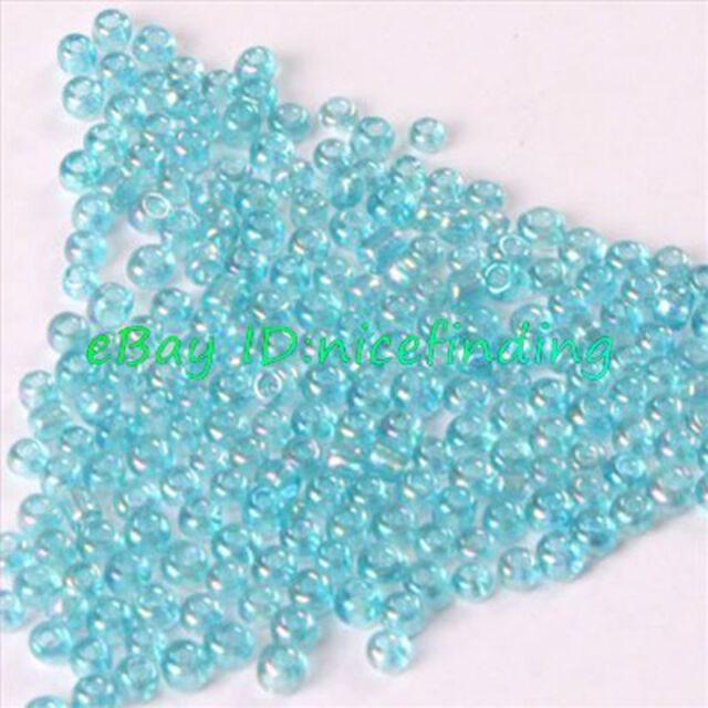 bg0766 5000pcs Loose Czech Glass Seed Beads 2mm Jewelry Making AB Color