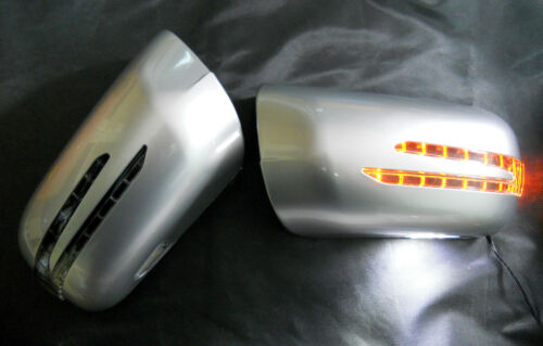 Mercedes W202 95~00 C-Class SILVER Arrow Type LED Side Mirror Cover C200//230//280