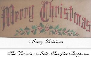 Merry-Christmas-Antique-Sampler-style-counted-cross-stitch-chart