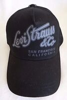 Levi's Baseball Cap Hat Black Adjustable Snapback 100% Cotton One Size