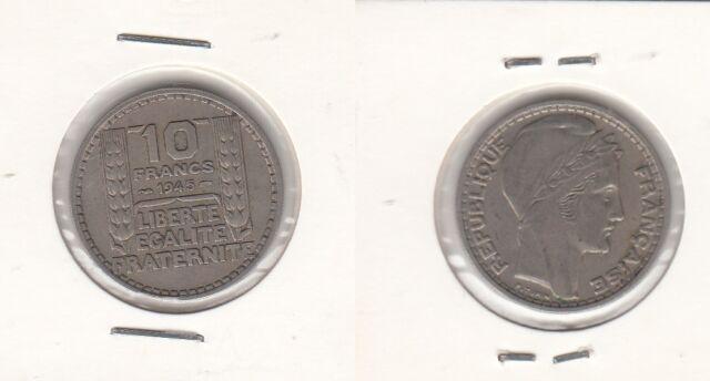 Monnaie contemporaine Française 10 francs Turin 1945 RL