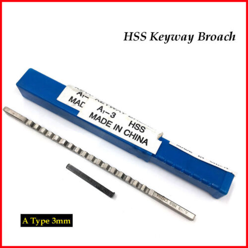 Square Keyway Broach 3mm A Push Type Cutter & Shim Metalworking Tool