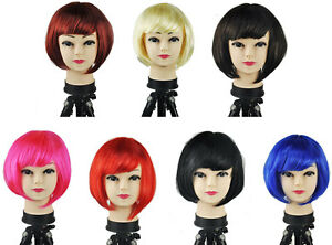 Womens-Sexy-Short-Bob-Cut-Fancy-Dress-Wigs-Play-Costume-Ladies-Full-Wig-Party