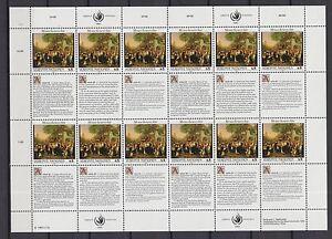 UNO-Wien-1993-postfrisch-MiNr-150-151-Bogensatz-Menschenrechte