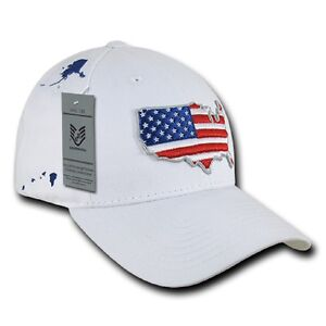Us Rapdom Low Crown The Glove Cap Usa Drapeau Casquette White-afficher Le Titre D'origine