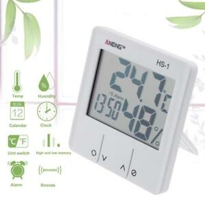 Digitale-Wetterstation-Thermometer-Hygrometer-Tischuhr-mit-Alarmfunktion-Snooze