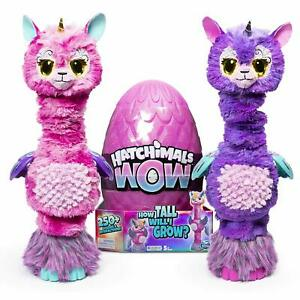 Hatchimals-Wow-Llalacorn-32-034-Tall-Interactive-with-Re-Hatchable-Egg-AuPos-Exp