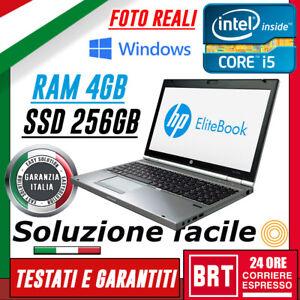 PC-NOTEBOOK-HP-Elitebook-8570p-15-6-034-CPU-i5-4GB-RAM-SSD-256GB-LICENZA-WIN-10-PRO