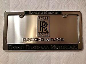 Desert European Motorcars >> Details About Rancho Mirage Desert European Motorcars Rolls Royce Dealer License Plate Frame