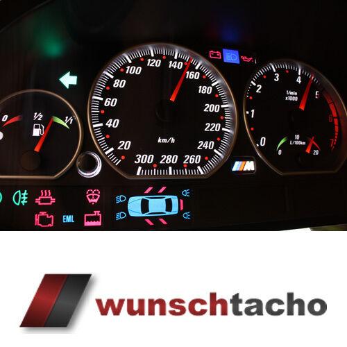 Tachoscheibe für Tacho BMW E46 DIESEL *Vamp*  300 kmh Top..