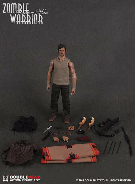 1 6 ZOMBIE WARRIOR DARYL DIXON THE WALKING DEAD DOUBLE PLAY 12  CROSSBOW NEW USA