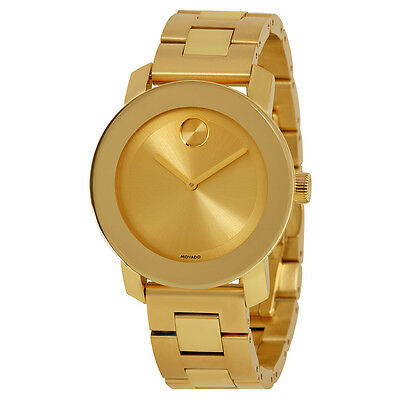 Movado Bold Polished Yellow Gold-tone Stainless Steel Ladies Watch 3600085
