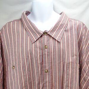 NWT Big Men Button Shirt S//S KingSize Cotton Blend Dress Casual Striped Various