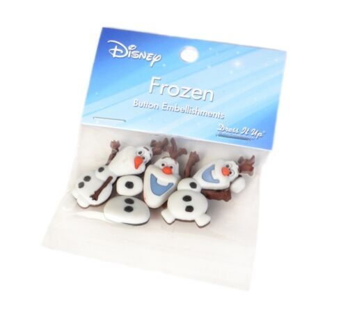 Frozen OLAF Button Embellishment Set FREE US SHIPPING Dress it up Buttons