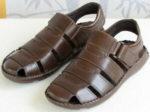 9-GBX-Men-Brown-Leather-Fisherman-Style-Casual-Sandal-Shoe