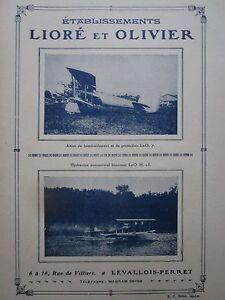 Luchtvaart, ruimtevaart 1926 PUB LIORE ET OLIVIER LeO AVION HYDRAVION SIRENE GEORGES VILLA ORIGINAL AD