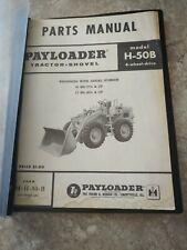International Hough Payloader H 50b 1961 Parts Catalog Manual