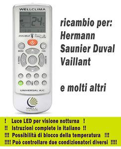 Telecomando Climatizzatore Hermann Vaillant Saunier Duval aria condizionata