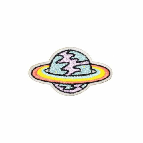 Iron On Hippy Planet Embroidery Applique Patch Sew Iron Badge
