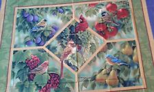 Springs Bird Sanctuary Birds Fruit Wallhanging PANEL Cotton Fabric CP21849