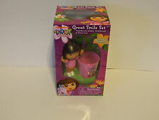 Dora Grat Smile Set   toothbrush & holder, and Rinse cup *** New In Box***