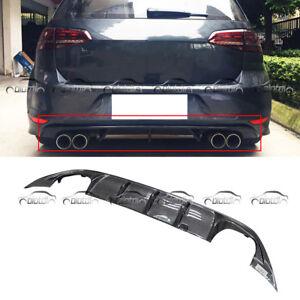 Details about For VW Golf MK7 Dual Quad Exhaust Tips Carbon Fibre Rear  Diffuser R Style