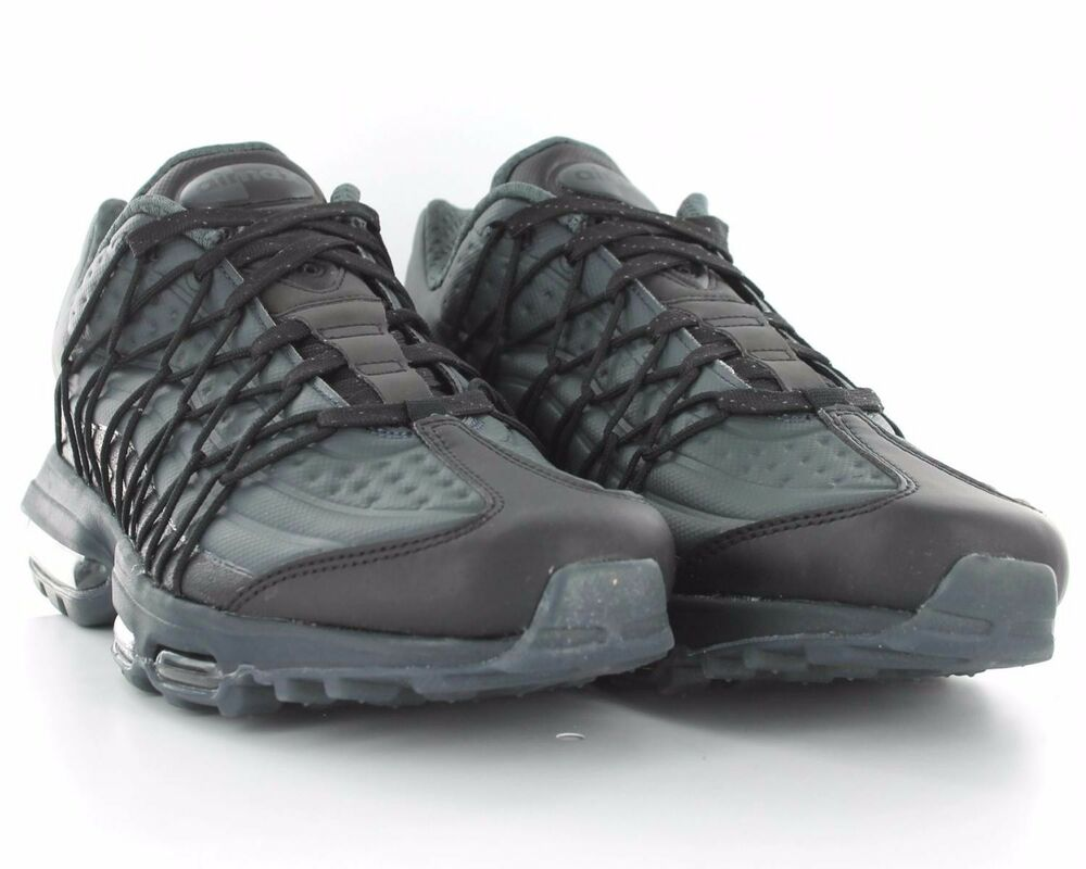Nike Air Max 95 Ultra Noir/Gris Taille 10UK Hommes Baskets Baskets Chaussures-