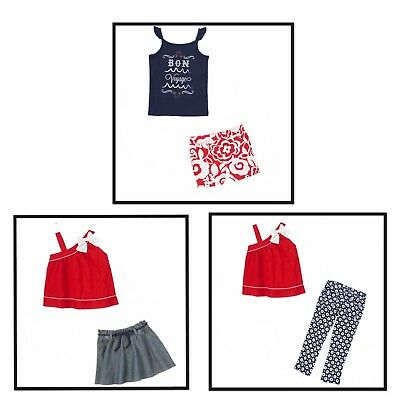 Gymboree Parisian Afternoon New NWT girls 4 5 6 7 8 top skirt shorts outfit