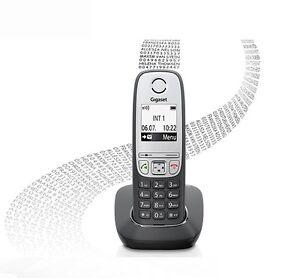 Siemens-Gigaset-A415-schwarz-analoges-schnurlos-Freisprechen-Festnetz-Telefon