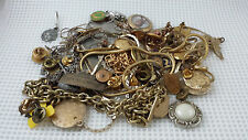 VTG Huge Mixed estate mens junk drawer Navy Medals Charms Chains Necklaces Lot