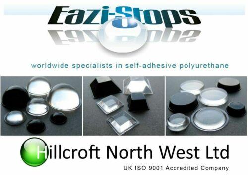 11.1 mm x 5.0 mm Caoutchouc Pare-chocs Pieds Collant Bumpons polyuréthane transparent noir EZ207