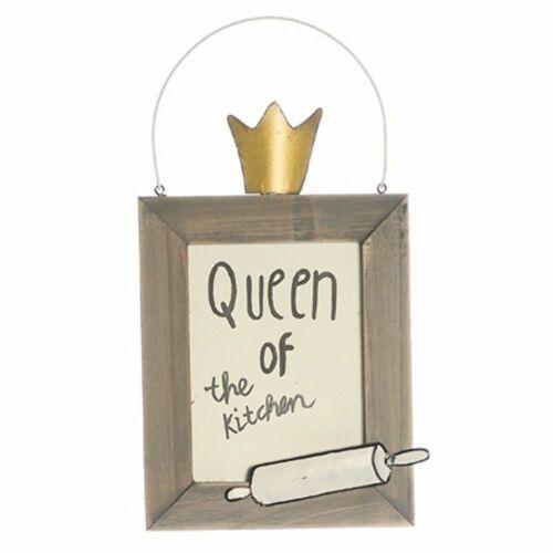 Originelles Holzschild Schild Queen of the kitchen Königin der Küche