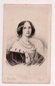 Vintage-CDV-Princess-Augusta-of-Saxe-Weimar-Eisenach-German-Empress-Neurdin-Phot