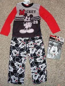 NEW Disney Mickey Mouse Boys SIZE 6 Long Sleeve Pajamas CHRISTMAS HOLIDAY #38561
