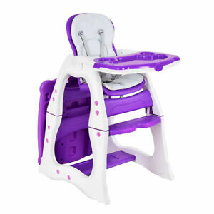 3-in-1-Baby-High-Chair-Convertible-Play-Table-Seat-Booster-Toddler-Feeding-Tray